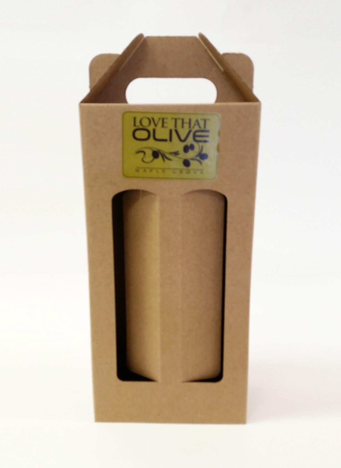 Two-Bottle Gift Box in Kraft Brown