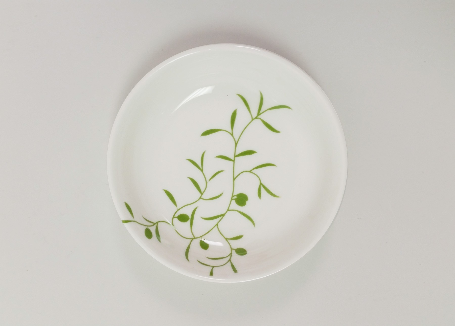 Olive Branch Dipping Plate