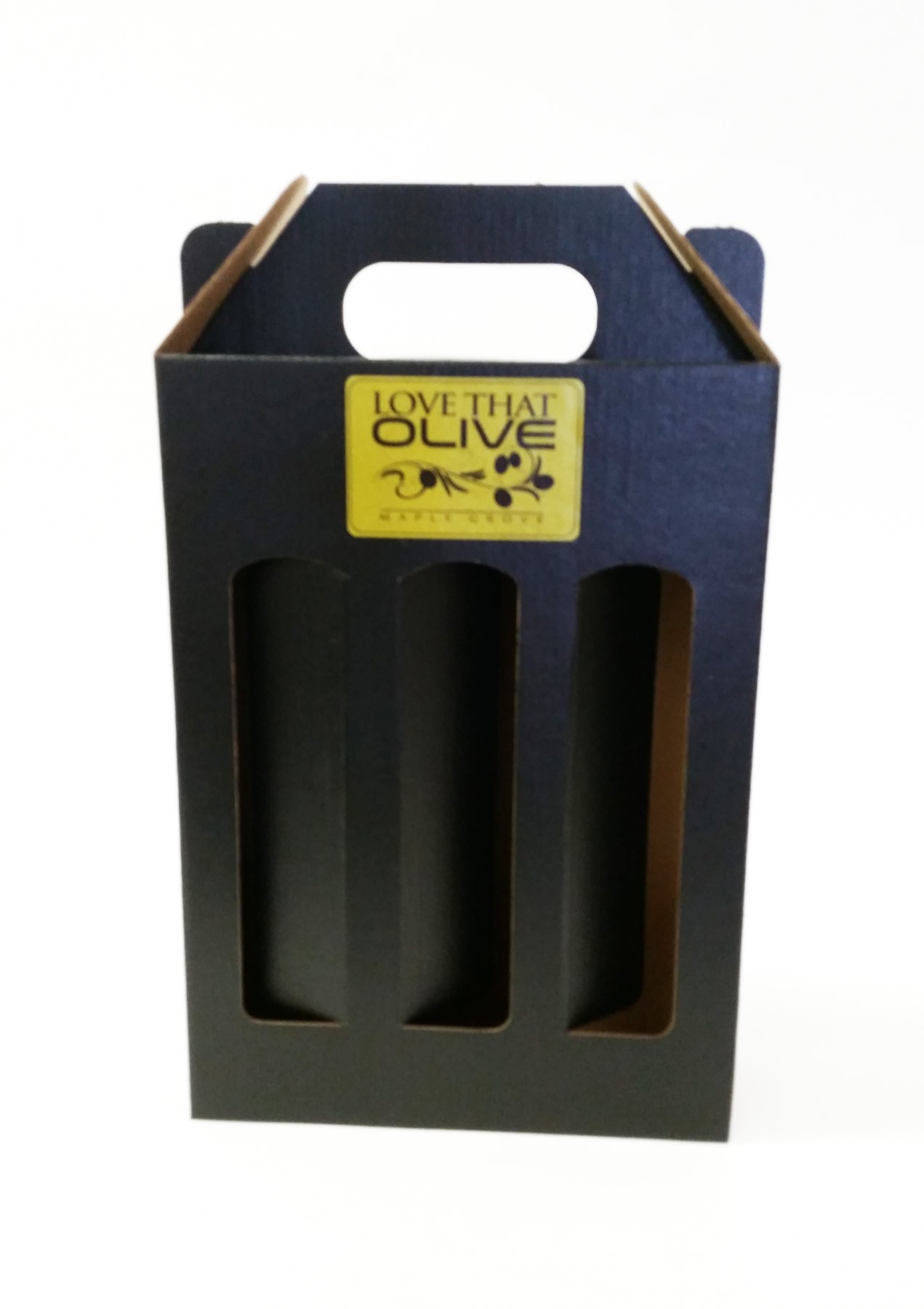 Three-Bottle Gift Box in Black