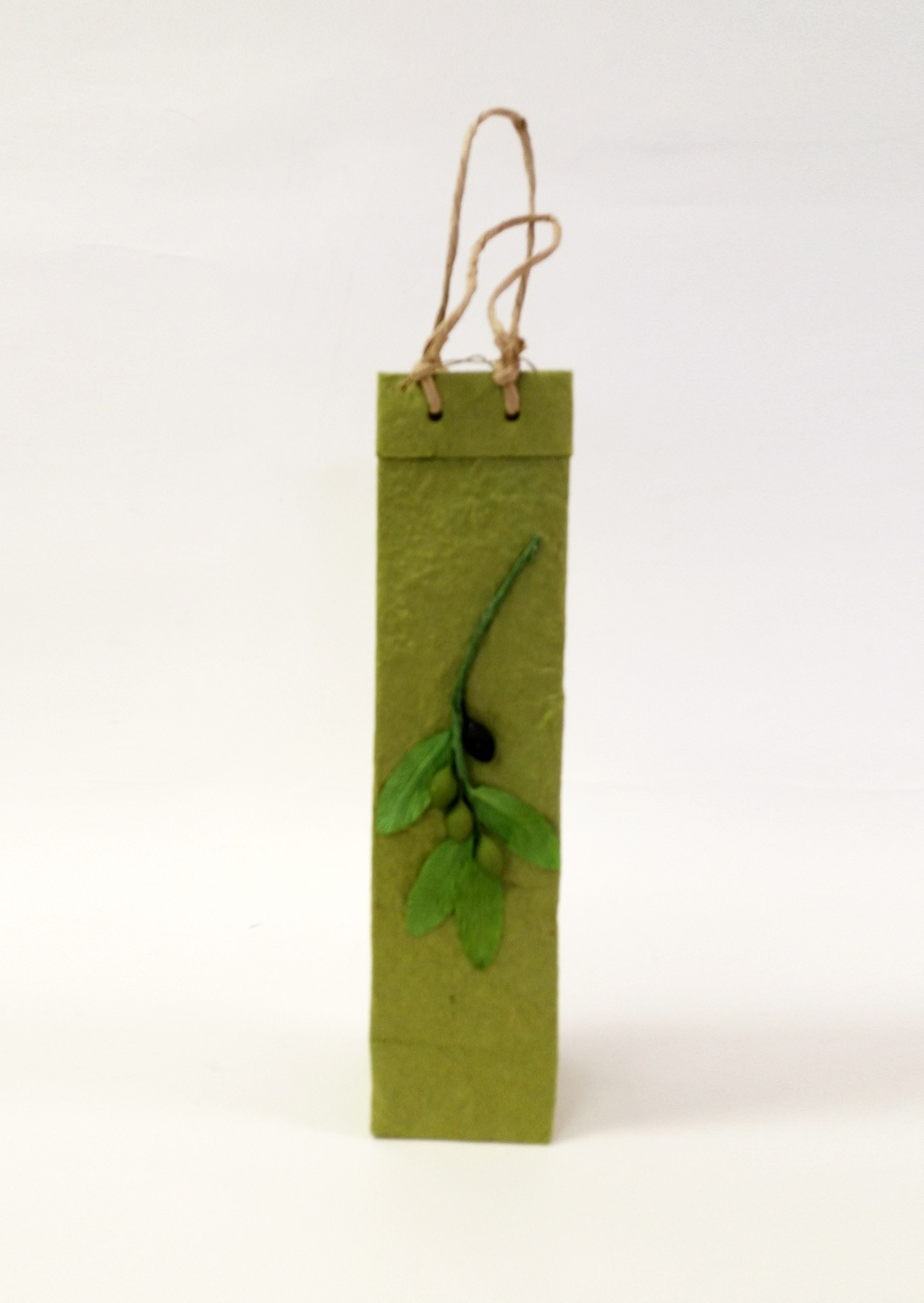 One-Bottle Olive Branch Gift Bag in Green