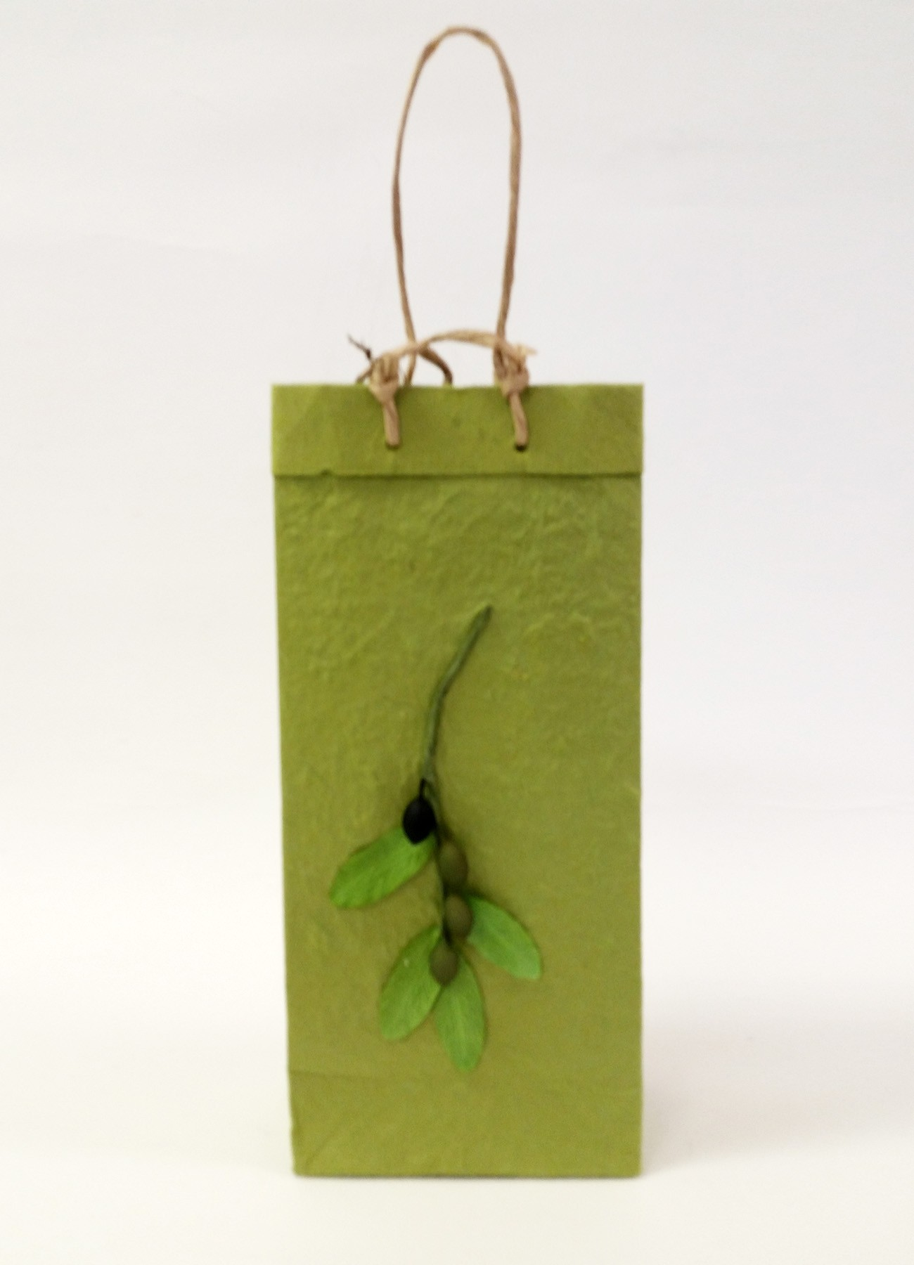 Two-Bottle Olive Branch Gift Bag in Green